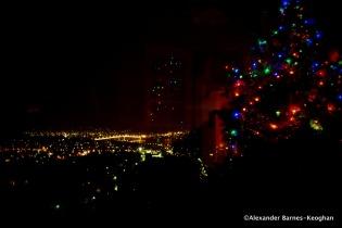 Christmas in Hobart (2014) Tasmania, Australia Reflection of a window overlooking the Derwent Bridge